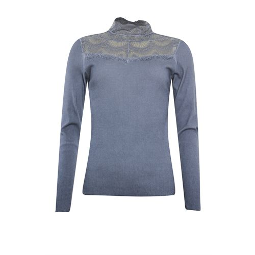 Poools dameskleding t-shirts & tops - t-shirt rib. beschikbaar in maat 36,38,40,42,44 (blauw)