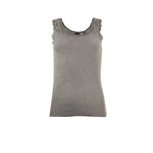 Poools ladieswear t-shirts & tops - top rib with lace. available in size 36,38,40,42,44,46 (brown)
