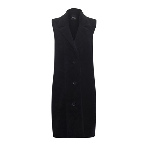 Poools ladieswear pullovers & vests - waistcoat hairy. available in size 38,40,42,44,46 (black)