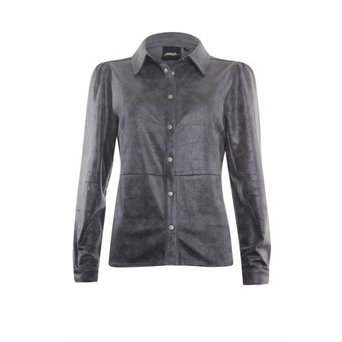 Poools ladieswear blouses & tunics - blouse leather look. available in size 38 (brown)