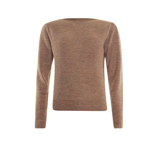 Poools ladieswear pullovers & vests - sweater boatneck. available in size 36,38,40,42,44,46 (brown)