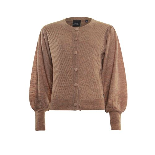 Poools ladieswear pullovers & vests - cardigan puffed sleeve. available in size 36,38,40,42,44,46 (brown)