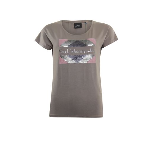 Poools ladieswear t-shirts & tops - t-shirt sequins. available in size 36,38,40,42,44,46 (brown)