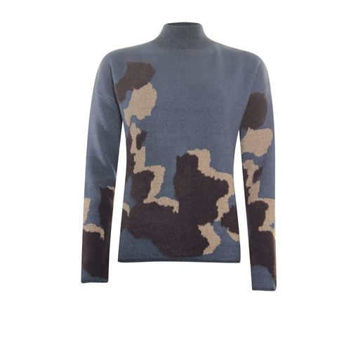 Poools ladieswear pullovers & vests - sweater big spots. available in size 36,38,40,42,44,46 (blue)