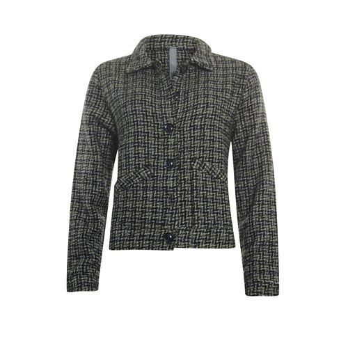 Poools dameskleding jassen & blazers - jasje ruit. beschikbaar in maat 36,42,46 (grijs)