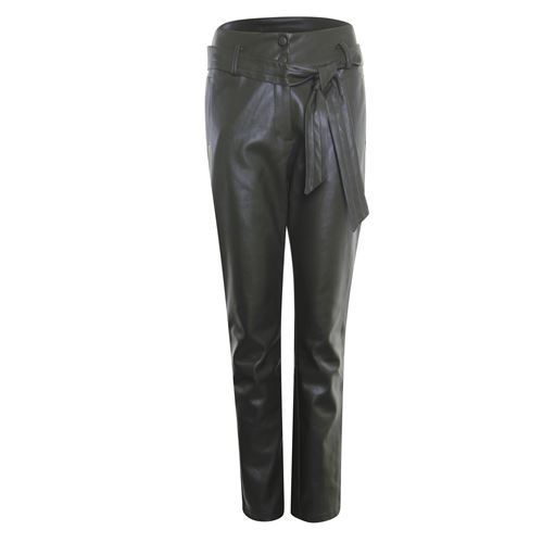 Poools dameskleding broeken - broek pu. beschikbaar in maat 36,38,40,42 (olijf)