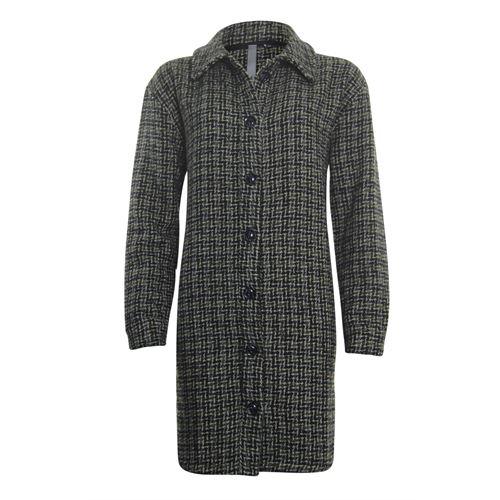 Poools dameskleding jassen & blazers - jas ruit. beschikbaar in maat 38,40,42,44,46 (grijs)
