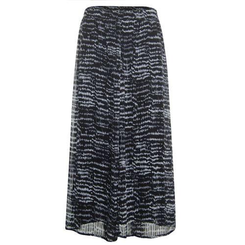 Poools dameskleding rokken - skirt printed. beschikbaar in maat 38,40,42,44,46 (zwart)