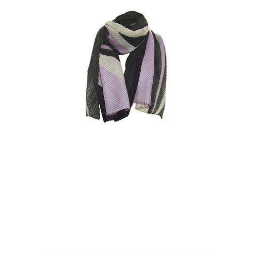 Poools dameskleding accessoires - shawl colourblock. beschikbaar in maat one size (paars)