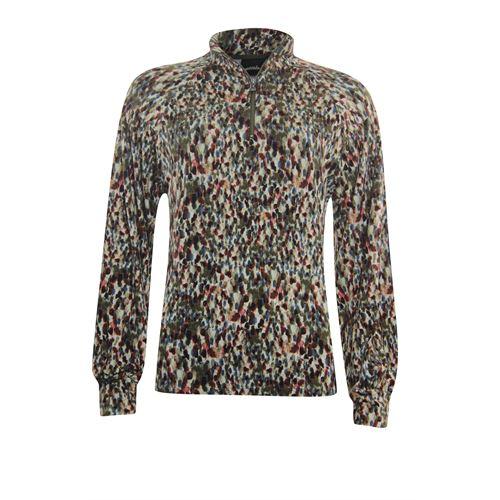 Poools dameskleding truien & vesten - sweater zip. beschikbaar in maat 36,44 (multicolor)