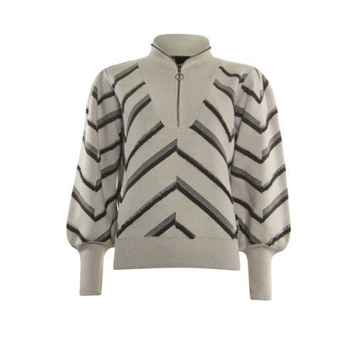 Poools ladieswear pullovers & vests - sweater zip. available in size 36,38,40,42,44,46 (off-white)
