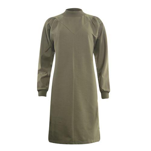Poools dameskleding jurken - sweaterjurk. beschikbaar in maat 38 (olijf)