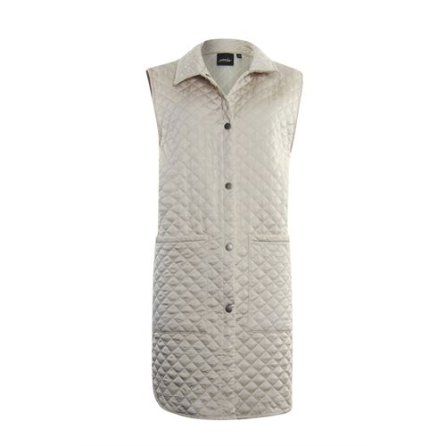 Poools dameskleding jassen & blazers - gilet gestept. beschikbaar in maat 44 (ecru)