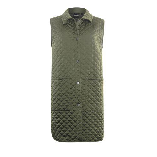 Poools dameskleding jassen & blazers - gilet gestept. beschikbaar in maat 36,38,40,42,44 (olijf)