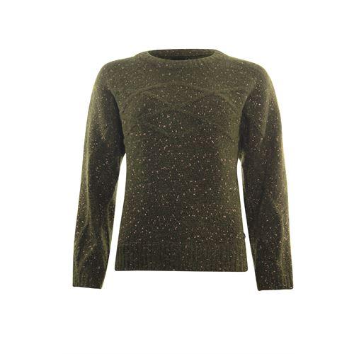 Poools dameskleding truien & vesten - sweater cable. beschikbaar in maat  (olijf)