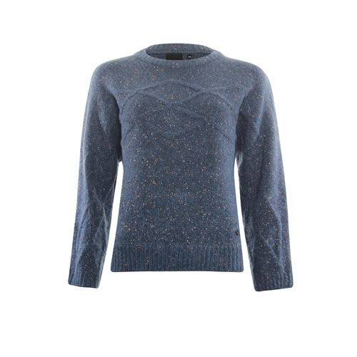 Poools dameskleding truien & vesten - sweater cable. beschikbaar in maat  (blauw)