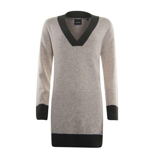 Poools dameskleding truien & vesten - sweater contrast. beschikbaar in maat 36,38,40,42,44,46 (ecru)