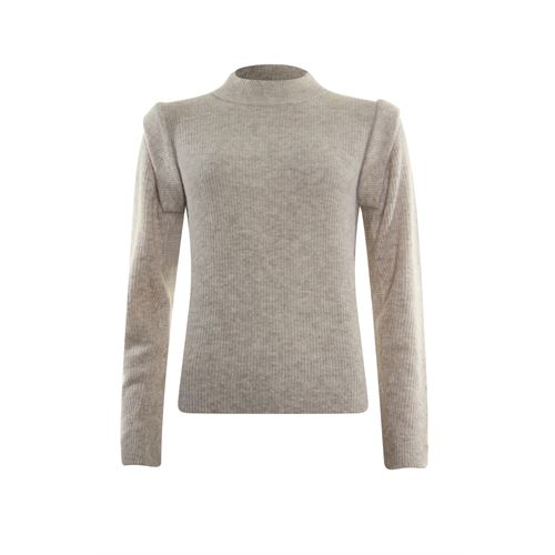 Poools dameskleding truien & vesten - sweater shoulder. beschikbaar in maat 38,40,42,44,46 (ecru)