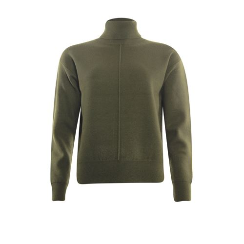 Poools ladieswear pullovers & vests - sweater rollcollar. available in size 36,38,40,42,44,46 (olive)