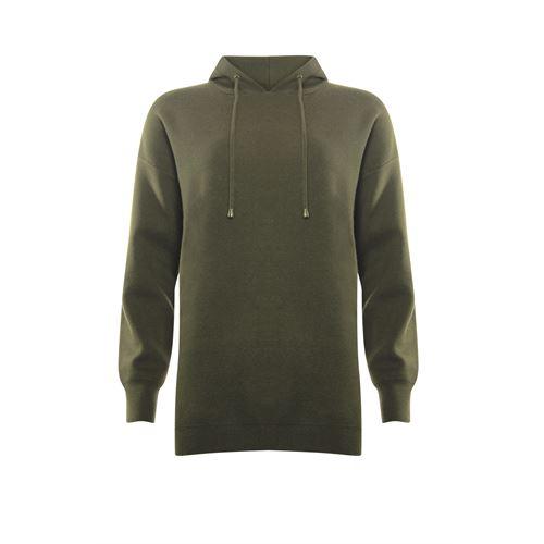 Poools dameskleding truien & vesten - sweater hood. beschikbaar in maat 36,38,40,42,44,46 (olijf)