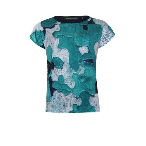 Anotherwoman ladieswear t-shirts & tops -  T-shirt. Available in size 42 (blue,green,grey)
