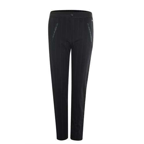 Poools ladieswear trousers -  Pant chalk stripe. Available in size  (black)