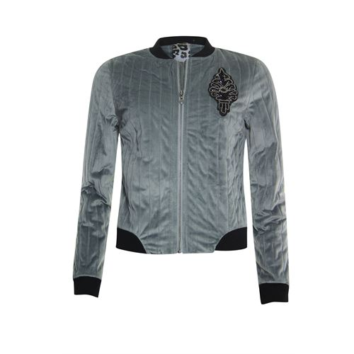 Poools ladieswear coats & jackets -  Bomber velvet. Available in size 36,38,40,42,44,46 (grey)