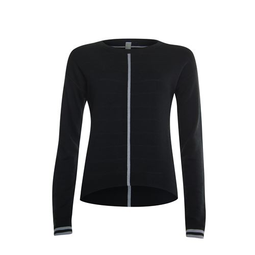 Poools ladieswear pullovers & vests -  Sweater striped inside. Available in size  (black)