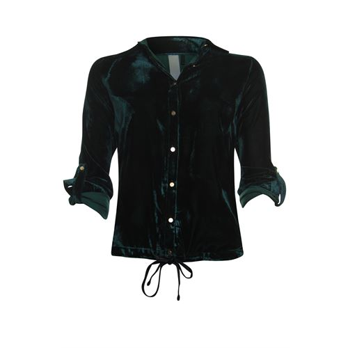 Poools ladieswear blouses & tunics -  Blouse velvet. Available in size 36 (green)