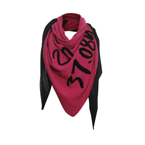 Poools ladieswear accessories -  Scarf text. Available in size One size,Size one (rose)