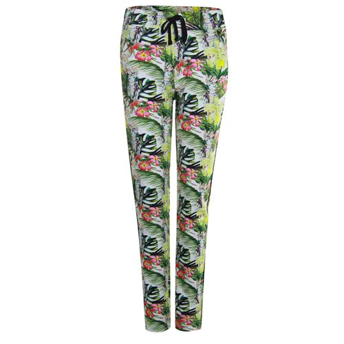 Anotherwoman ladieswear trousers -  Printed pant. Available in size 36,38,40,42,44,46 (green,multicolor,off-white,red)