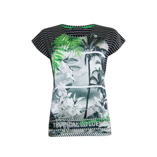 Anotherwoman ladieswear t-shirts & tops -  T-shirt. Available in size 36,38,40,42,44,46 (black,green,multicolor,off-white)
