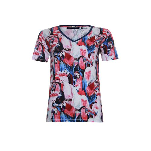 Anotherwoman ladieswear t-shirts & tops -  T-shirt. Available in size 36,38,40,42,44,46 (blue,multicolor,off-white,red)