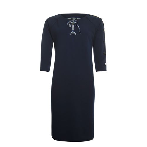 Poools ladieswear dresses -  Dress contrast. Available in size 36,38,40,42,44,46 (blue)