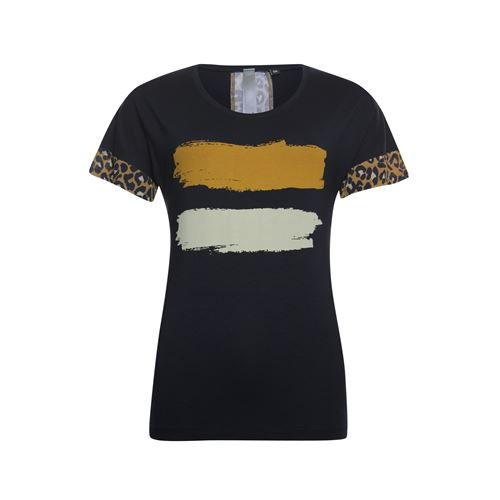 Poools ladieswear t-shirts & tops -  T-shirt paint. Available in size 36,38,40,44 (blue)
