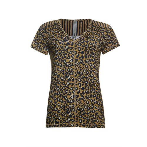 Poools ladieswear t-shirts & tops -  T-shirt printed. Available in size 38 (blue,brown,multicolor)