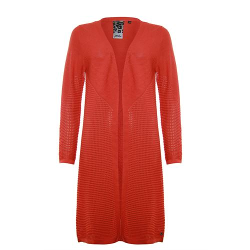 Poools ladieswear pullovers & vests -  Cardigan long. Available in size 36,38,40,42,44 (red)