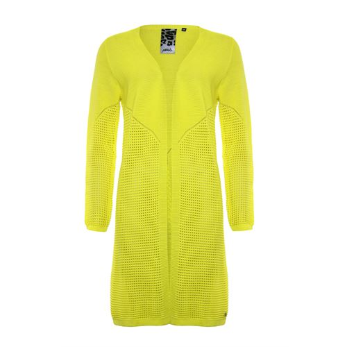 Poools ladieswear pullovers & vests -  Cardigan long. Available in size 36,38,40,42 (yellow)