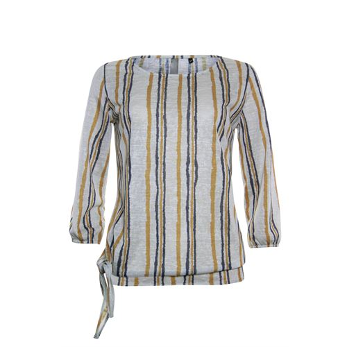 Poools ladieswear t-shirts & tops -  T-shirt stripe. Available in size 36,38,40,42,44 (brown)