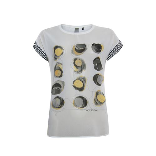 Poools ladieswear t-shirts & tops -  T-shirt print front. Available in size 36,38,40,42,44,46 (off-white)