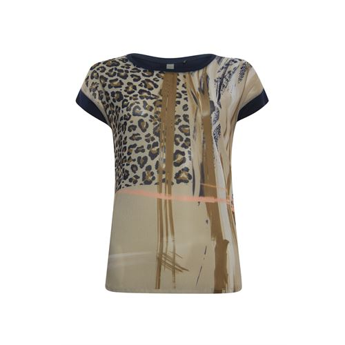 Poools ladieswear t-shirts & tops -  T-shirt print front. Available in size 38 (brown)