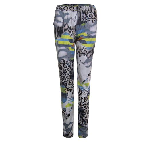 Poools ladieswear trousers -  Pant printed. Available in size 36,38,40,42,44,46 (blue,multicolor,off-white,yellow)