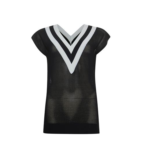 Poools ladieswear pullovers & vests -  Sweater sleeveless. Available in size 36,38,40,42,44,46 (black)