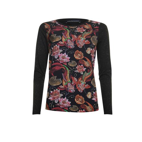 Anotherwoman dameskleding t-shirts & tops - t-shirt. beschikbaar in maat 38,44 (multicolor,rood,rose,zwart)