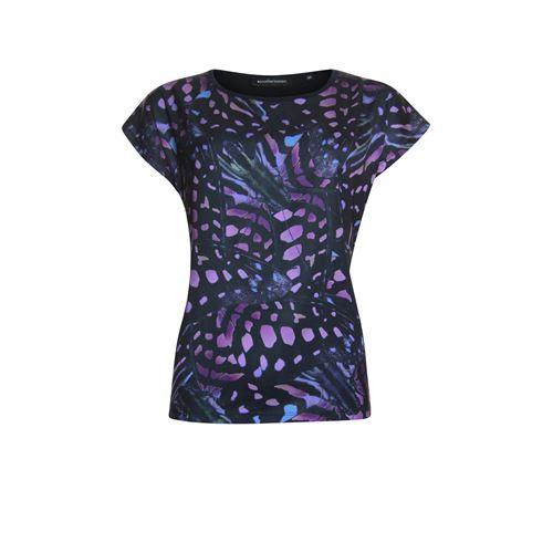 Anotherwoman dameskleding t-shirts & tops - t-shirt. beschikbaar in maat 42 (blauw,multicolor,rose)