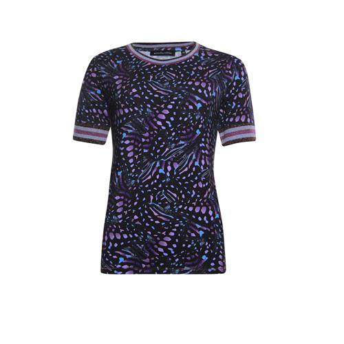 Anotherwoman dameskleding t-shirts & tops - t-shirt. beschikbaar in maat 36 (blauw,multicolor,rose)