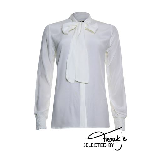 Poools ladieswear blouses & tunics - blouse bow. available in size  (off-white)