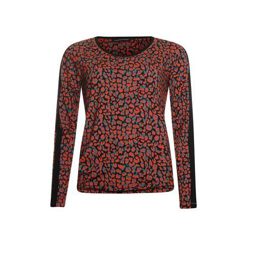 Anotherwoman dameskleding t-shirts & tops - t-shirt lm. beschikbaar in maat 36,46 (groen,multicolor,rood,zwart)