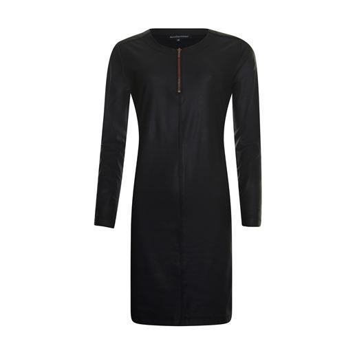 Anotherwoman dameskleding jurken - jurk coated lm. beschikbaar in maat 36 (zwart)