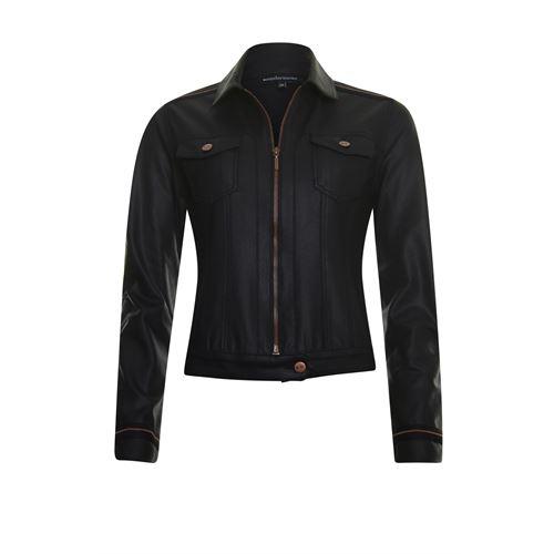 Anotherwoman dameskleding jassen & blazers - jasje coated. beschikbaar in maat 36 (zwart)